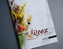 Rooz Cafe&Restaurant Menu Design