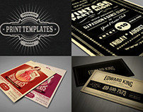 10 flyer templates & 7 business card templates