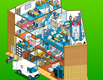 1st Byte Online Virtual Building Tour Illustration