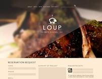 LOUP . DC / Site Design for Wølv dining.