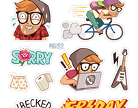 VIBER sticker set 2, Alex