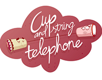 Cup and string telephone