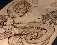 Octopus Pyrography