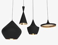 Beat Light set by Tom Dixon