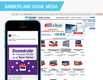 Telmex Banners and Social Media
