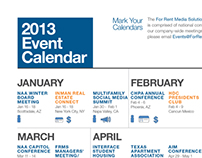 2013 Dominion Homes Media Event Calendar