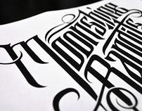 Moonshine Bandits: Custom Lettering Logo Design