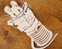 The Tailor of Gloucester, Beatrix Potter papercut