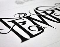 TempleRiff: Lettering / Logo Design