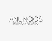 Anuncios Prensa / Revista