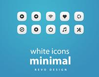 White minimal icons