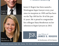 Advertising for Law Offices of James S. Rogers