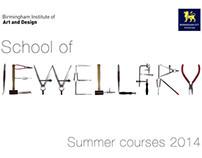 School of Jewellery BCU Summer Courses Brochure