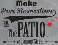 "Ads for ""The Patio on Lamont Street"""