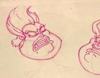 Estudio de construcción de personajes.