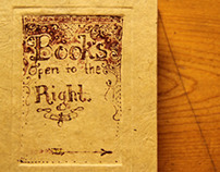 Books Open to the Right