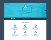 web site layout for IT Consulting
