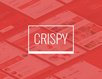Crispy - A Fresh & Flat Mobile Ui Design