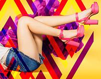 Campanha Verão 2016 Sapato Show: Vejo cores em você!