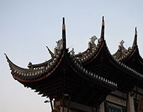 The architecture of temples in Shanghai
