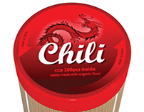 Pasta with chili.