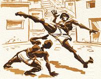Capoeira in the favela