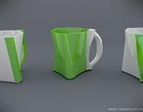 Twisted mug concept