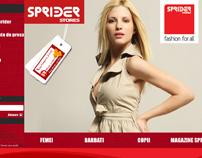 Webdesign: Sprider Stores