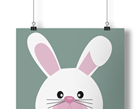 Rabbit - poster for children's rooms
