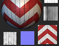 Striped Wooden Wall - Environment Texture