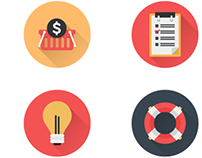 Business Icons and Web Icons Set - Flat Icons