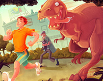 Jogging with dinosaurs