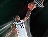 2014 MSU Basketball Player Posters