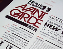 Especimen Tipografico: Avant Garde Gothic