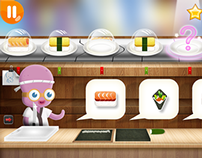 """Cycle Sushi"" app game, Kizipad"