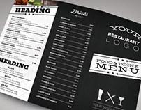 Modern Restaurant Menu Set