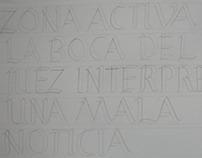 mayúsculas romanas lápiz
