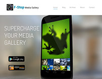 F-Stop Media Home Page Design