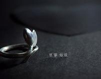 豆芽姑娘-手工银戒