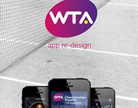 WTA App Re-design