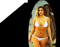 """Kevin Flory - """"Birth of Kim Kardashian, Uffizi Museum"""""""