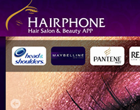 HAIRPHONE Promo Web Design