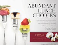 CONRAD Hotel & Resorts Lobby Lounge Ad