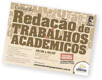 Cartaz redação de trabalhos acadêmicos