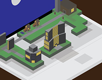 Isometric city - Jesse van den Boom
