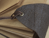 Handmade Journals /Leather and Natural Recycled paper