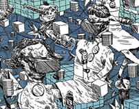 CYBERSPACE - illustrations for Ordkonst 4/13