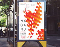Nagano Winter Olympic Games Event Poster