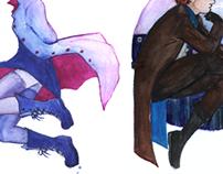 Watercolor Doodles: Violet