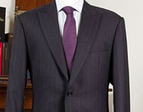 Navy Rope Stripe 3/4 inch Suit: Jacket & Trouser